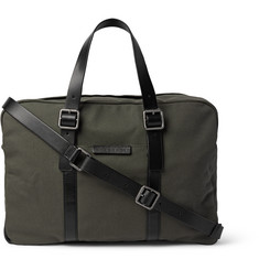 Marc by Marc Jacobs Leather-Trimmed Cotton-Canvas Weekender Bag