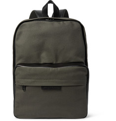Marc by Marc Jacobs Leather-Trimmed Cotton-Canvas Backpack