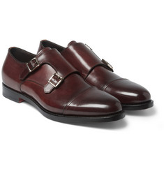 Santoni Leather Monk-Strap Shoes