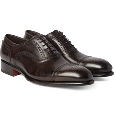 Santoni Cap-Toe Leather Oxford Brogues