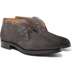 Santoni Burnished Suede Desert Boots