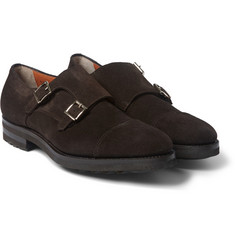 Santoni - Suede Monk-Strap Shoes