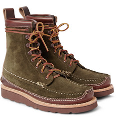 Yuketen Maine Guide DB Leather-Panelled Suede Boots