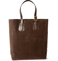 Tom Ford Leather-Trimmed Suede Tote