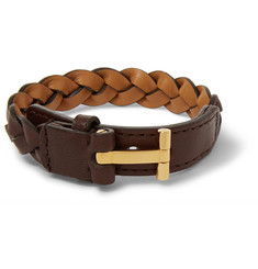 Tom Ford Braided Leather Bracelet