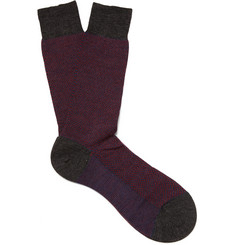 Pantherella Lombard Merino Wool-Blend Socks