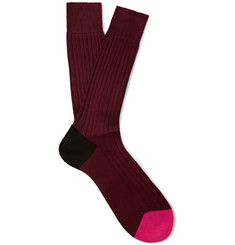 Paul Smith Shoes & Accessories Colour-Block Cotton Socks