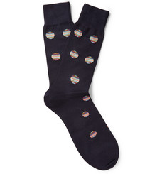 Paul Smith Shoes & Accessories Polka-Dot Cotton-Blend Socks