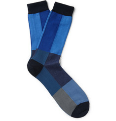 Paul Smith Shoes & Accessories Patchwork Cotton-Blend Socks