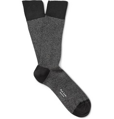 Paul Smith Shoes & Accessories Mélange Cotton-Blend Socks