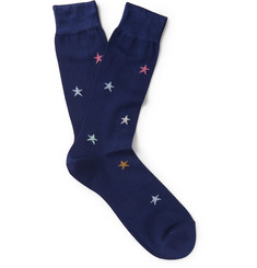 Paul Smith Shoes & Accessories Star Cotton-Blend Socks