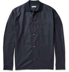 Margaret Howell Ribbed-Collar Cotton-Flannel Shirt