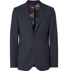 PS by Paul Smith Midnight-Blue Slim-Fit Slub Wool Suit Jacket