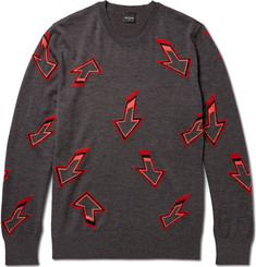 PS by Paul Smith Arrow-Intarsia Wool Sweater
