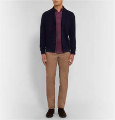 PS by Paul Smith Slim-Fit Button-Down Collar Checked Brushed-Cotton Twill Shirt