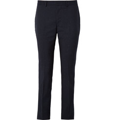 PS by Paul Smith Midnight-Blue Slim Fit Slub Wool Trousers