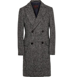 MP Massimo Piombo Double-Breasted Checked Woven Coat