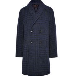MP Massimo Piombo Double-Breasted Checked Baby Alpaca-Blend Coat