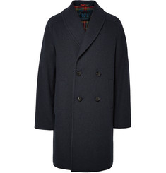 MP Massimo Piombo Double-Breasted Textured Wool-Blend Coat