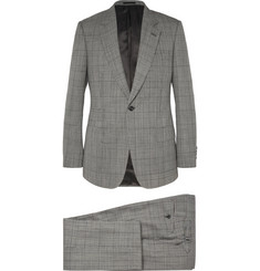 Kingsman Grey Slim-Fit Single-Breasted Prince of Wales Check Suit