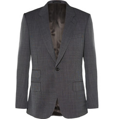 Kingsman Grey Slim-Fit Single-Breasted Nailhead-Wool Suit