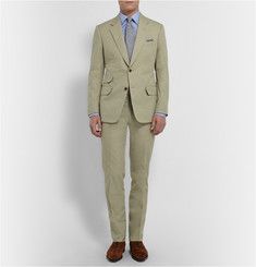 Kingsman Stone Slim-Fit Brushed Cotton-Twill Suit Jacket