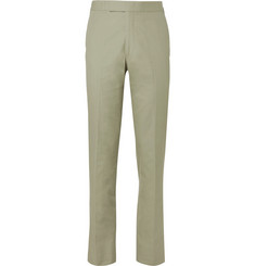 Kingsman Stone Slim-Fit Brushed Cotton-Twill Suit Trousers