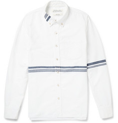 Remi Relief Striped Button-Down Collar Denim Shirt