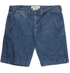 Remi Relief Washed-Denim Shorts