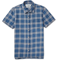 Remi Relief Check Cotton-Flannel Shirt
