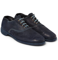 Guidi Cordovan Washed-Leather Oxford Shoes