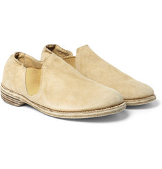 Guidi Brushed-Suede Slip-On Shoes