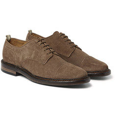 Officine Creative Harvard Cap-Toe Suede Derby Shoes