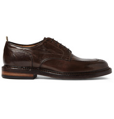 Officine Creative Harvard Split-Toe Glossed-Leather Derby Shoes
