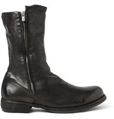Officine Creative Ikon Shearling-Lined Washed-Leather Boots