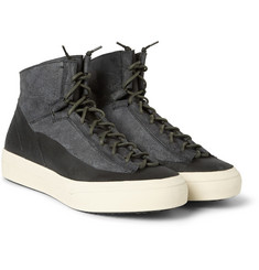 Officine Creative Nomad Nubuck and Leather High-Top Sneakers