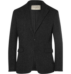 Casely-Hayford Titus Ribbed Felted Cotton-Blend Blazer
