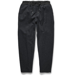 Casely-Hayford Hungerford Faille-Trimmed Wool-Blend Tweed Trousers