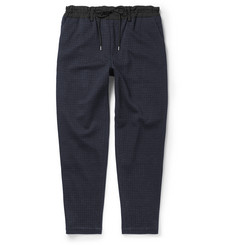 Casely-Hayford Hungerford Faille-Trimmed Checked Wool-Blend Trousers