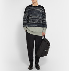 Casely-Hayford Heworth Cotton Jersey-Panelled Textured-Knit Sweater