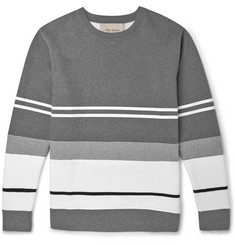 Casely-Hayford Bradfield Flocked Cotton-Blend Jersey Sweatshirt