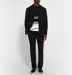 Casely-Hayford Farrell Flocked Cotton-Jersey T-Shirt