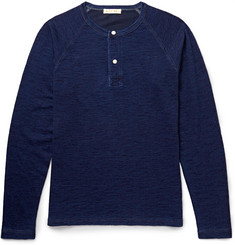 Alex Mill Mélange Cotton-Jersey Henley T-Shirt