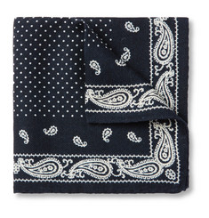 Alex Mill Paisley-Print Wool-Twill Pocket Square