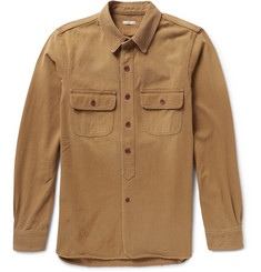 Chimala 1930s Boyscout Distressed Cotton-Twill Shirt