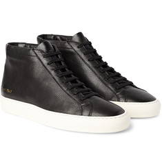 Common Projects Original Achilles Grained-Leather High-Top Sneakers