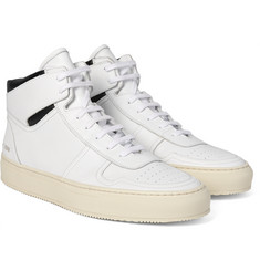 Common Projects - BBall Retro Leather High-Top Sneakers