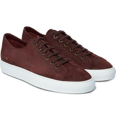 Common Projects Tournament Waxed-Suede Sneakers