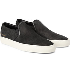 Common Projects Waxed-Suede Slip-On Sneakers