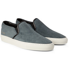 Common Projects - Waxed Suede Slip-On Sneakers
